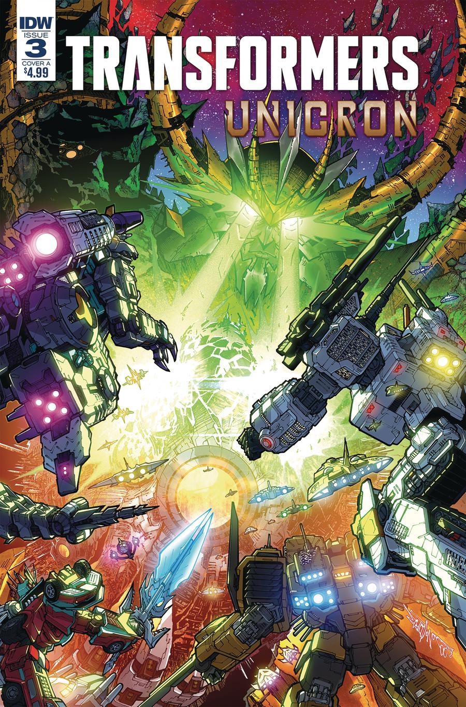 Transformers Unicron #3 Cover A Regular Alex Milne Cover