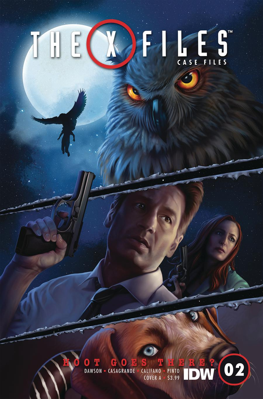X-Files Case Files Hoot Goes There #2 Cover A Regular Catherine Nodet Cover