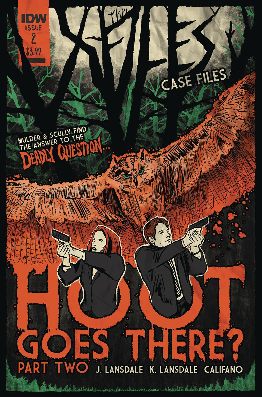 X-Files Case Files Hoot Goes There #2 Cover B Variant JJ Lendl Cover