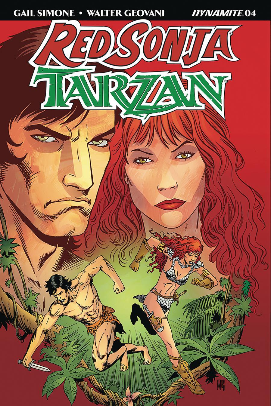 Red Sonja Tarzan #4 Cover B Variant Walter Geovani Cover
