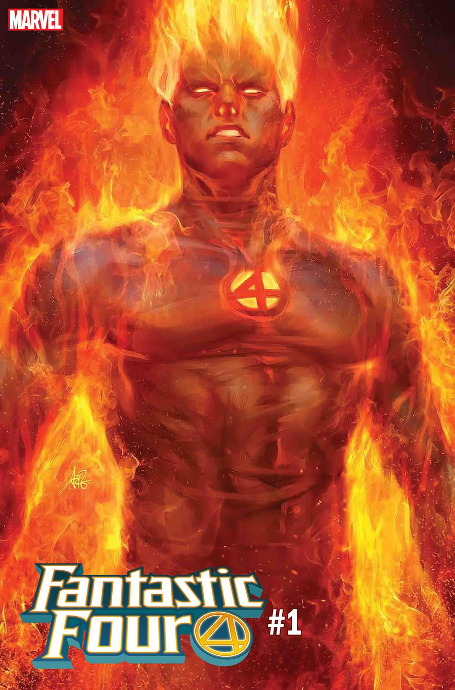 Fantastic Four Vol 6 #1 Cover H Variant Stanley Artgerm Lau Human Torch Cover