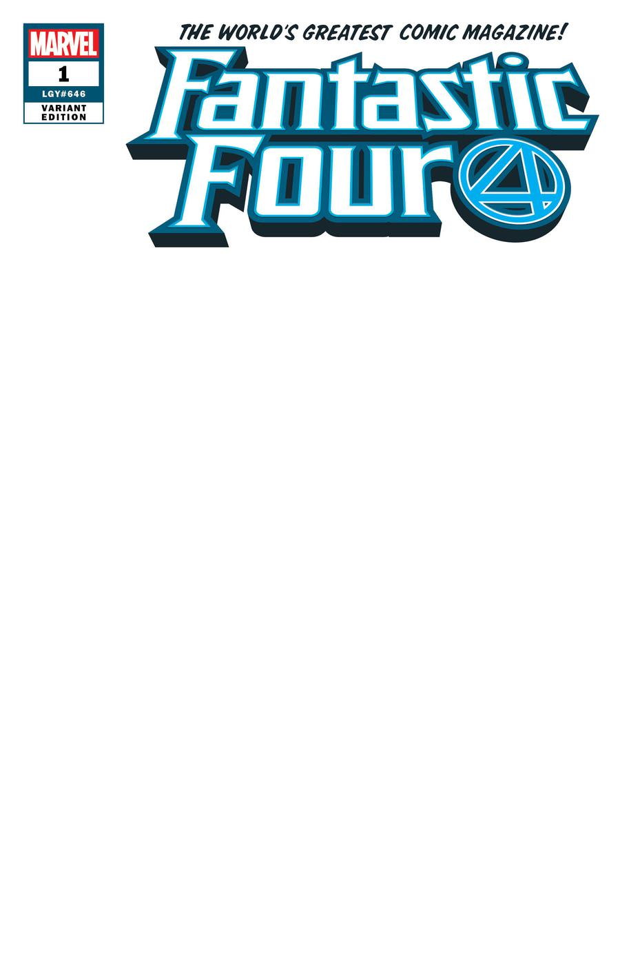 Fantastic Four Vol 6 #1 Cover R Variant Blank Cover
