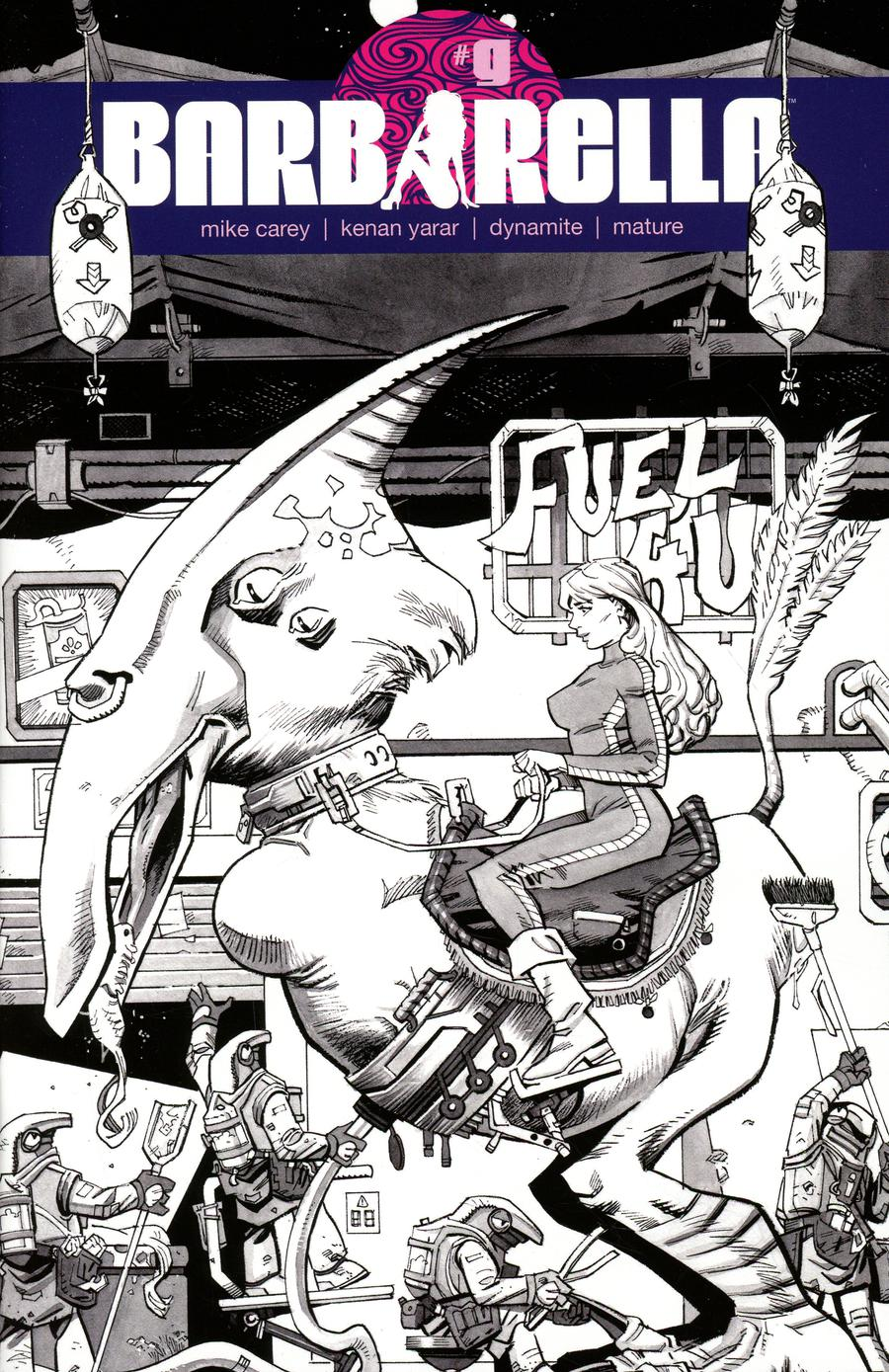 Barbarella #9 Cover F Incentive Eoin Marron Black & White Cover