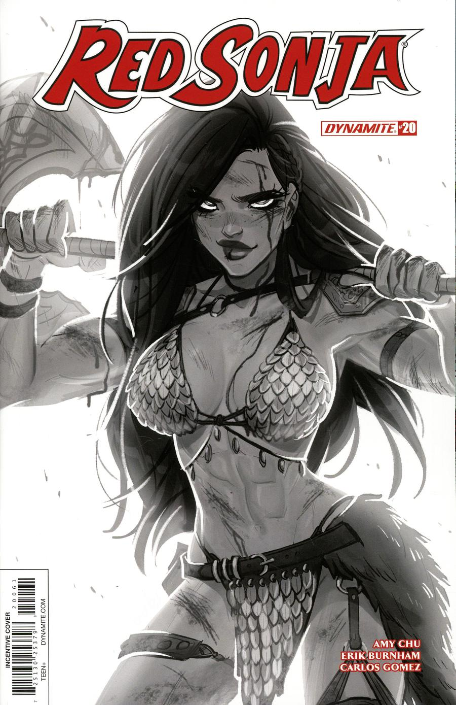 Red Sonja Vol 7 #20 Cover F Incentive Babs Tarr Black & White Cover