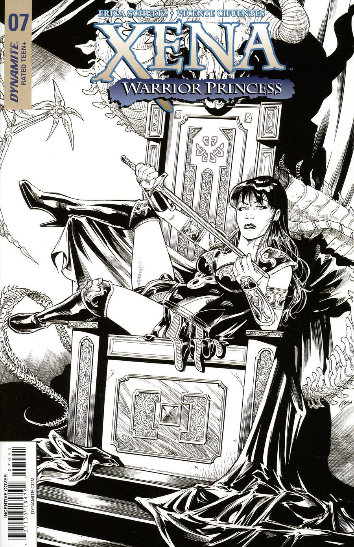 Xena Vol 2 #7 Cover D Incentive Vicente Cifuentes Black & White Cover