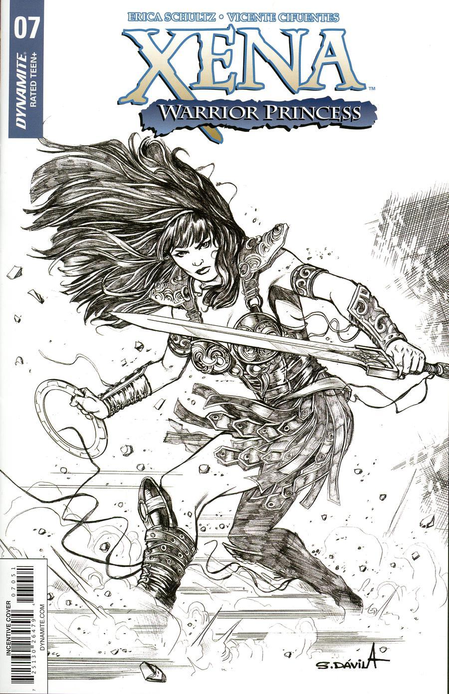 Xena Vol 2 #7 Cover E Incentive Sergio Davila Black & White Cover