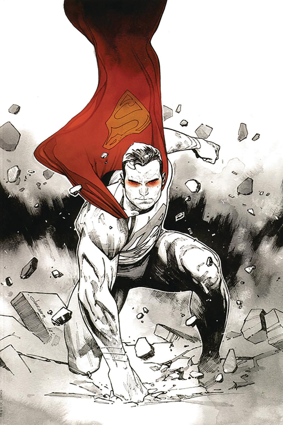 Action Comics Vol 2 #1000 Cover Z-L DF Olivier Coipel Black White & Red Cover