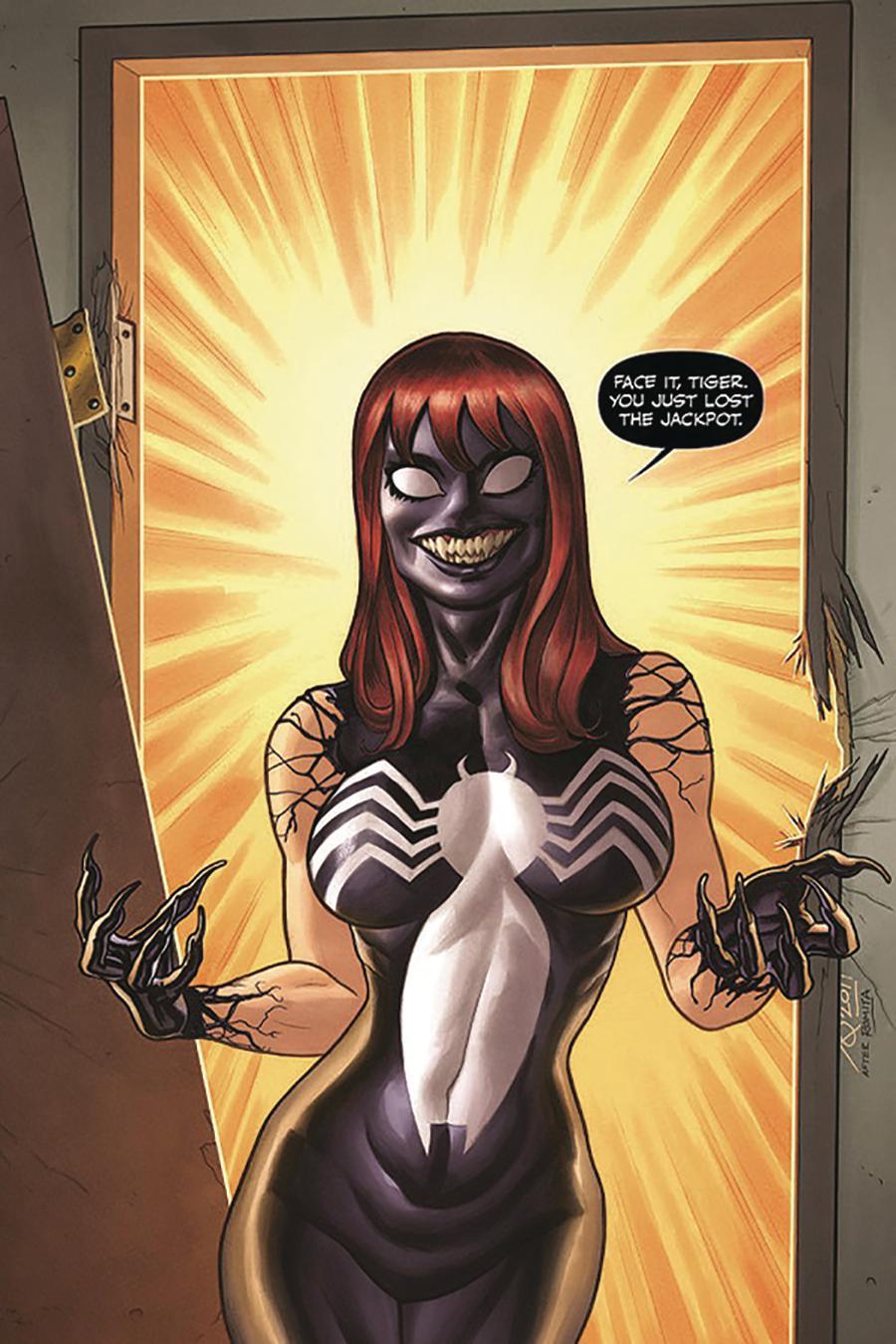 Venom Vol 4 #1 Cover N DF Comic Sketch Art Exclusive Joe Quinones Venomized Mary Jane Jack-Pot Variant Cover