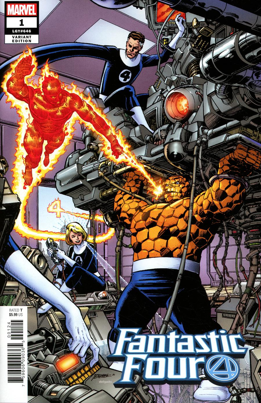 Fantastic Four Vol 6 #1 Cover Y Incentive George Perez Remastered Color Variant Cover
