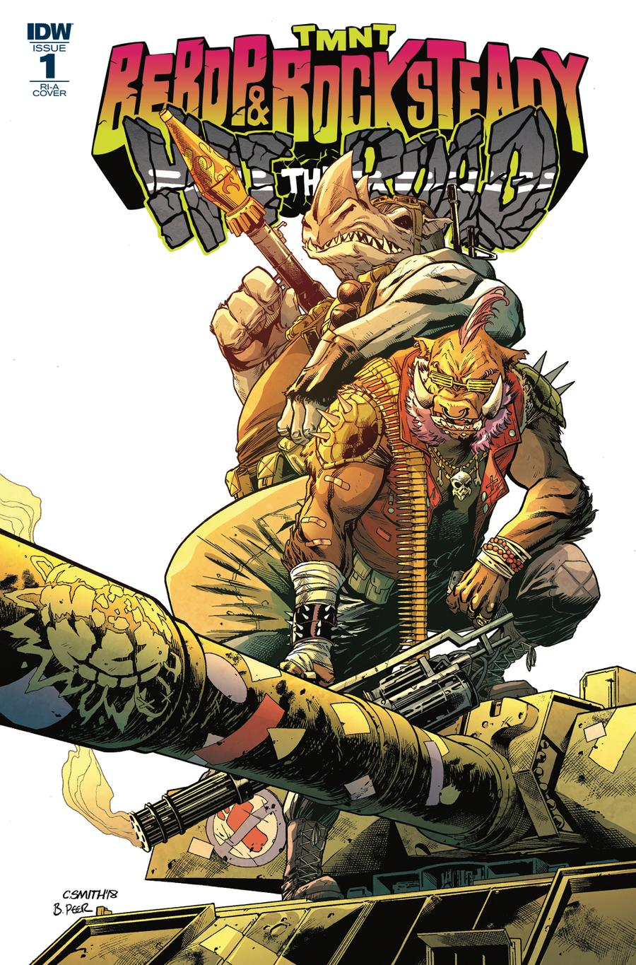 Teenage Mutant Ninja Turtles Bebop & Rocksteady Hit The Road #1 Cover C Incentive Cory Smith Variant Cover