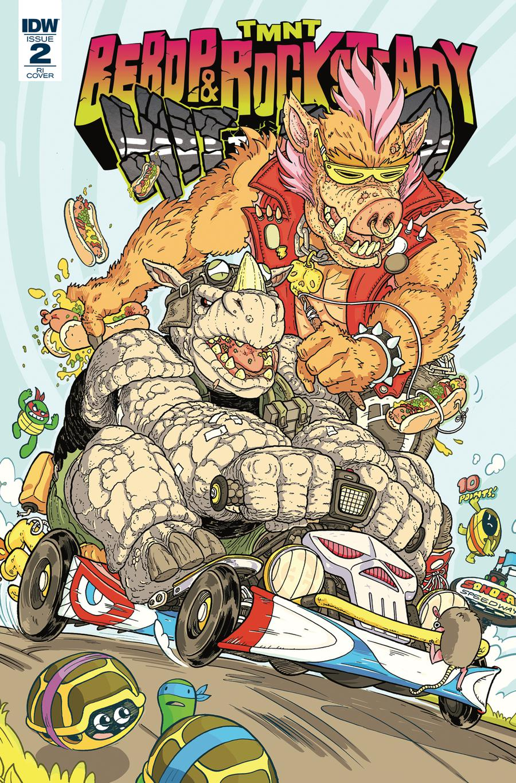 Teenage Mutant Ninja Turtles Bebop & Rocksteady Hit The Road #2 Cover C Incentive Ulises Farinas Variant Cover