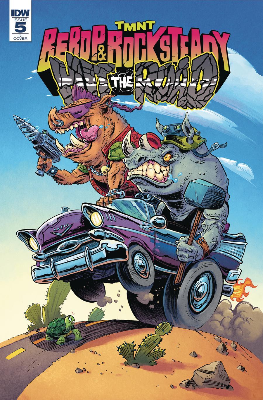 Teenage Mutant Ninja Turtles Bebop & Rocksteady Hit The Road #5 Cover C Incentive Aaron Conley Variant Cover