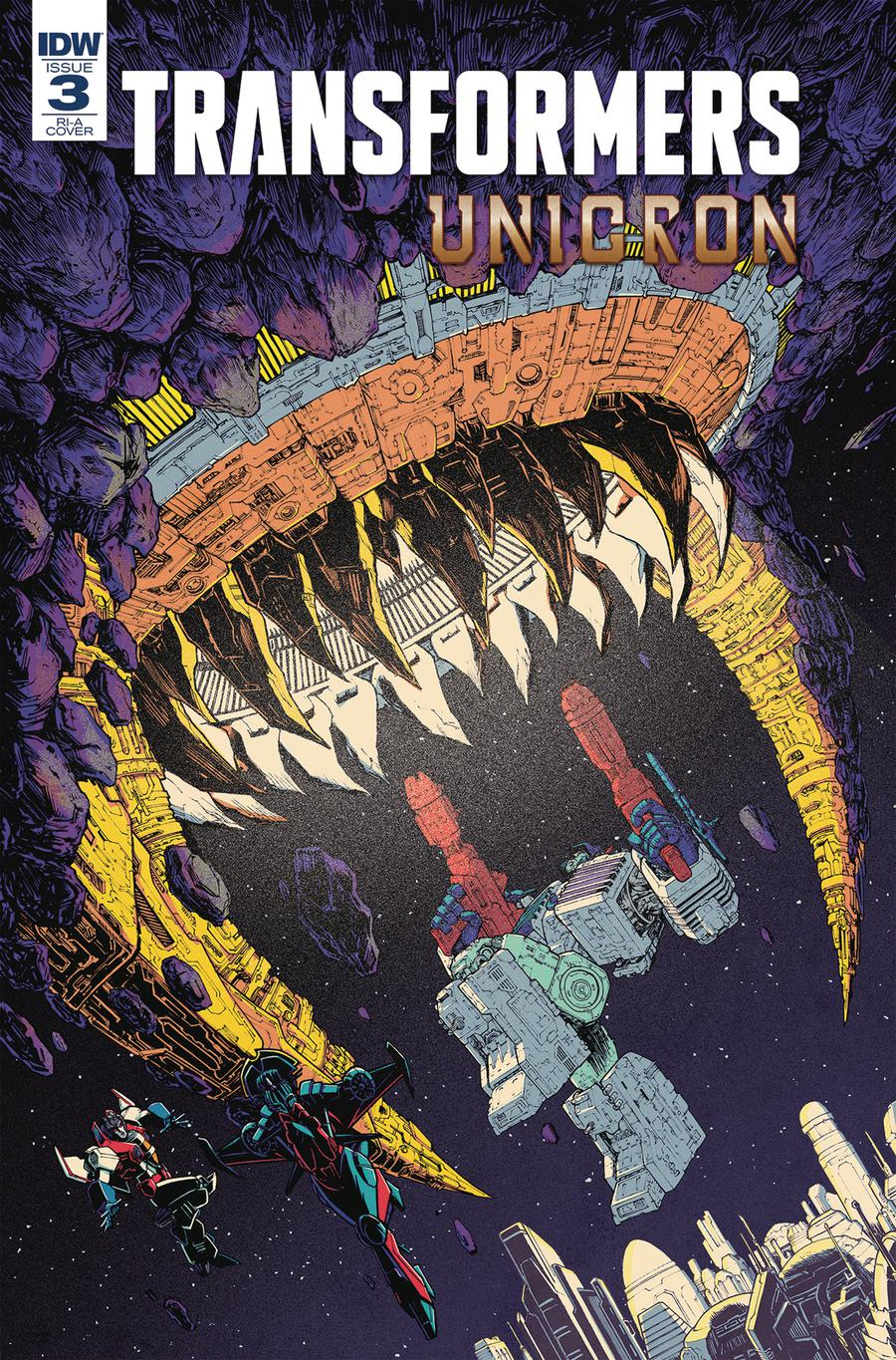 Transformers Unicron #3 Cover C Incentive Nick Roche Variant Cover