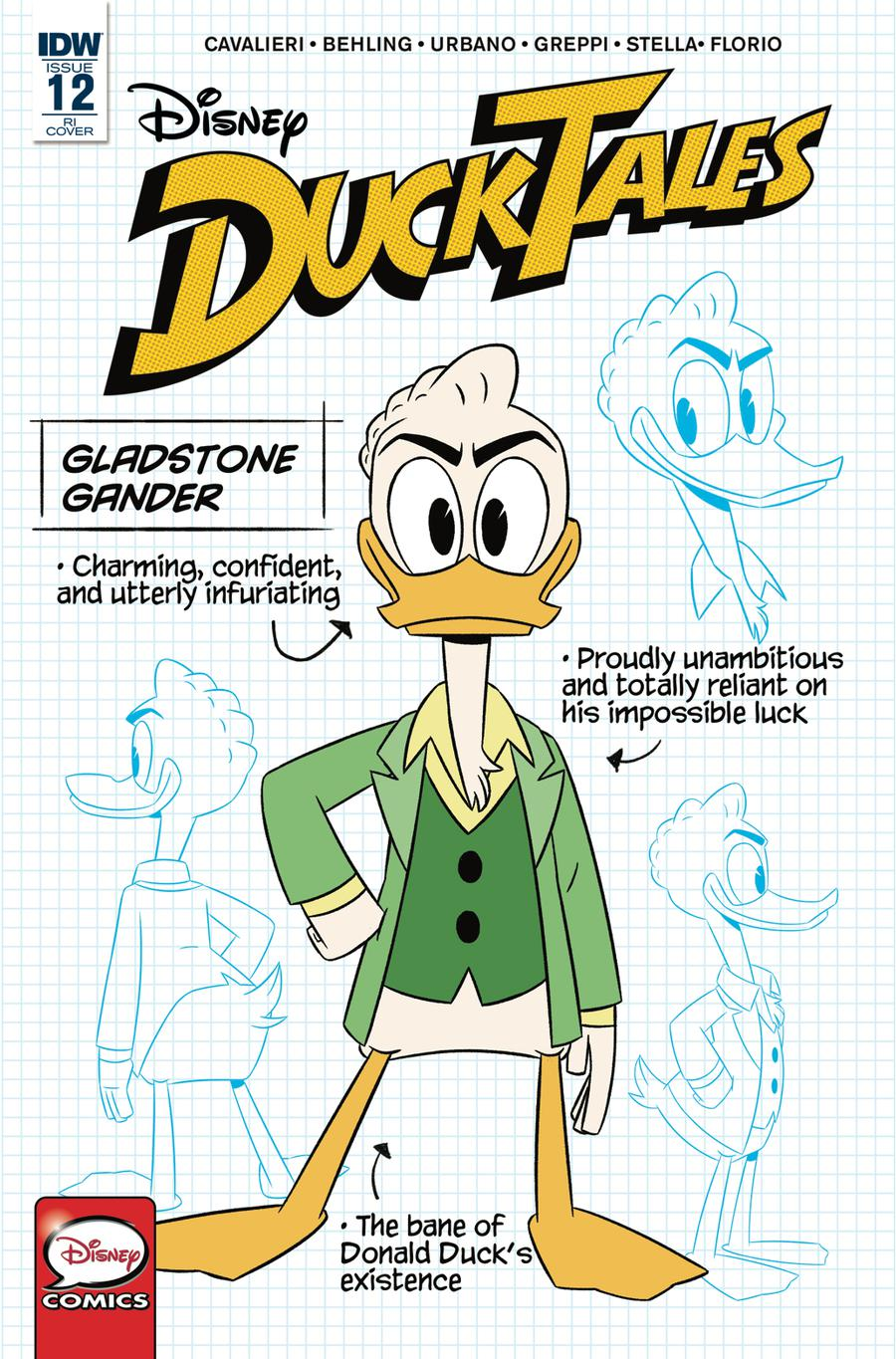 Ducktales Vol 4 #12 Cover C Incentive Blueprint Character-Focused Variant Cover