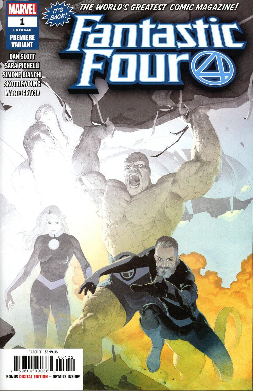 Fantastic Four Vol 6 #1 Cover Z-A Incentive Esad Ribic Premiere Variant Cover