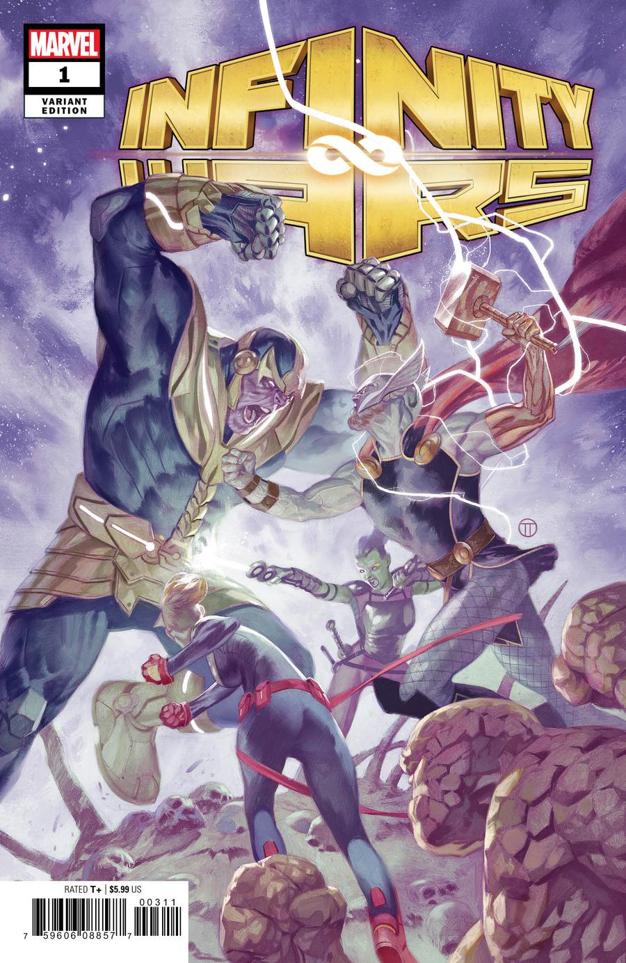 Infinity Wars #1 Cover I Incentive Julian Totino Tedesco Variant Cover