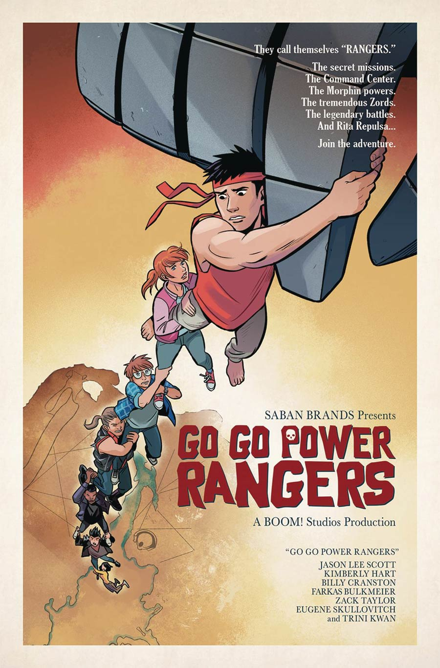 Sabans Go Go Power Rangers #12 Cover E Incentive Natacha Bustos Movie Homage Variant Cover (Shattered Grid Tie-In)