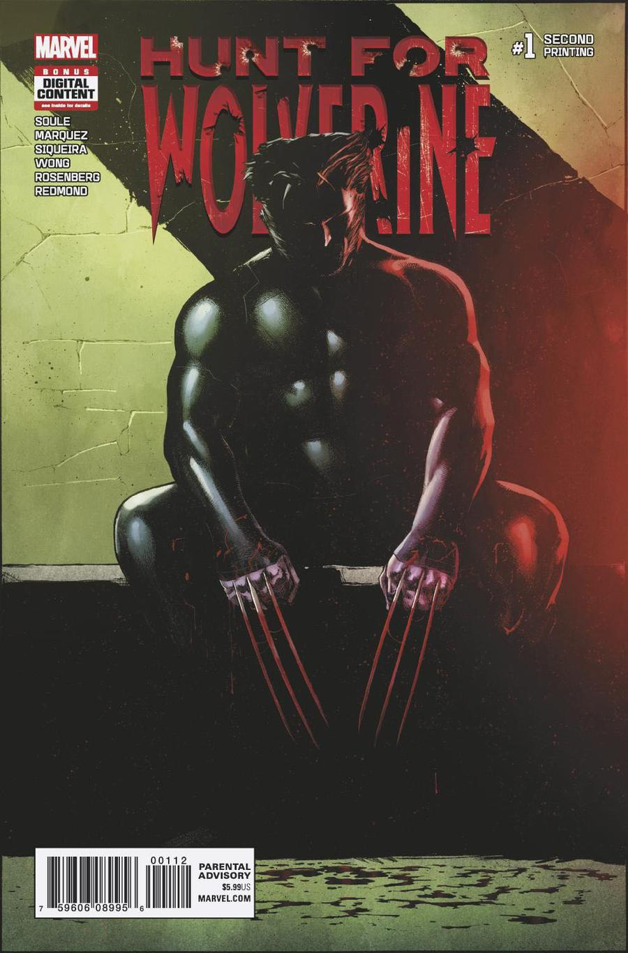 Hunt For Wolverine #1 Cover N 2nd Ptg Variant David Marquez Cover