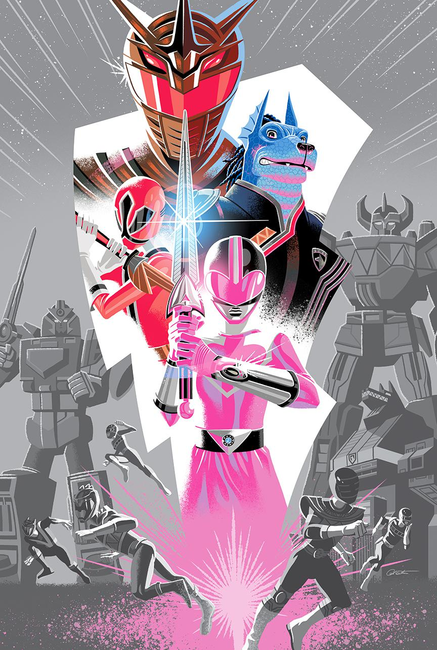 Mighty Morphin Power Rangers 2018 Annual #1 Cover D 2nd Ptg Variant George Caltsoudas