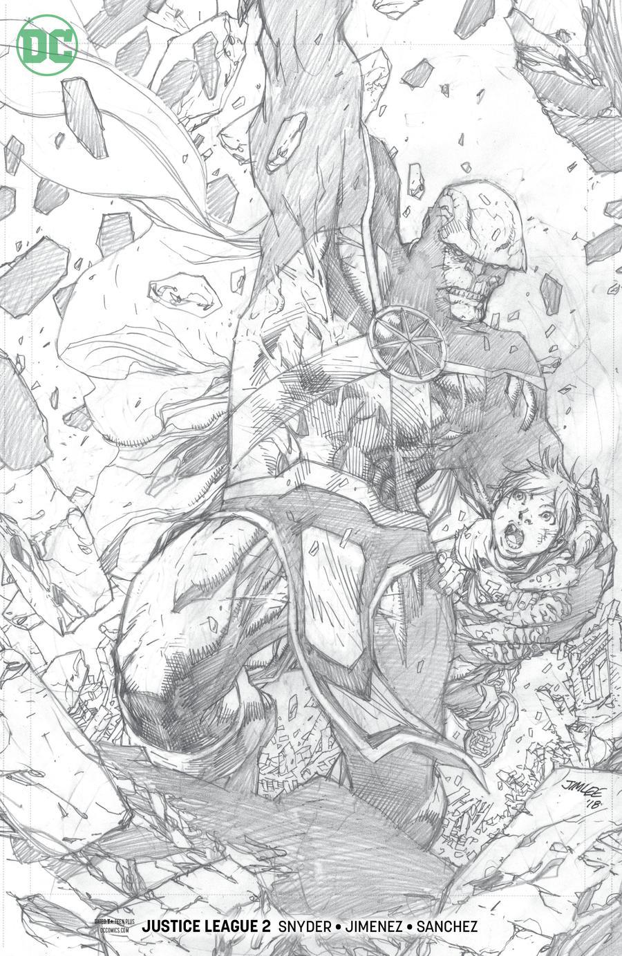 Justice League Vol 4 #2 Cover C Incentive Jim Lee Pencil Variant Cover