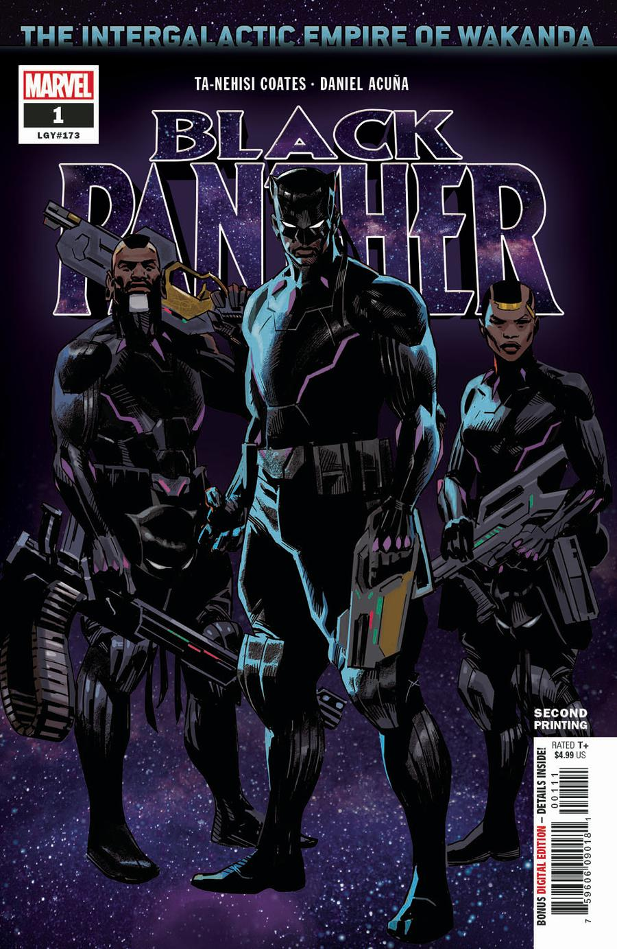 Black Panther Vol 7 #1 Cover M 2nd Ptg Daniel Acuna Cover