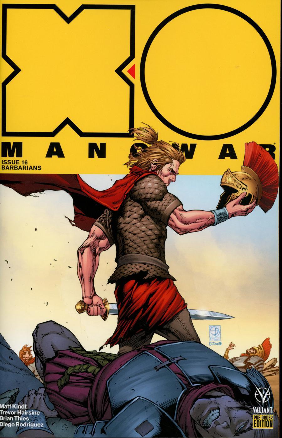 X-O Manowar Vol 4 #16 Cover C Variant Shane Davis Cover