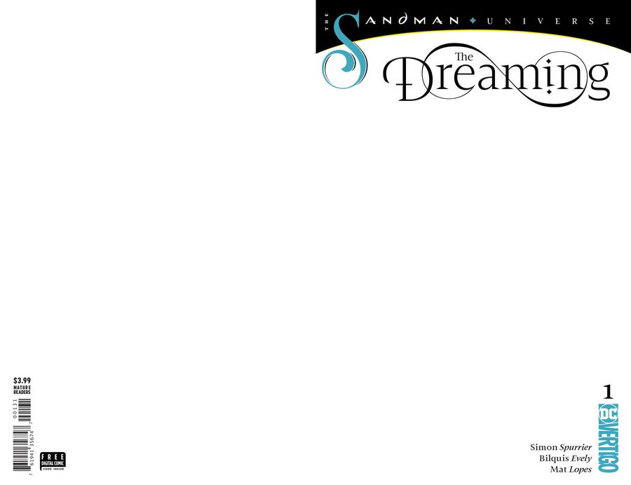 Dreaming Vol 2 #1 Cover C Variant Blank Cover
