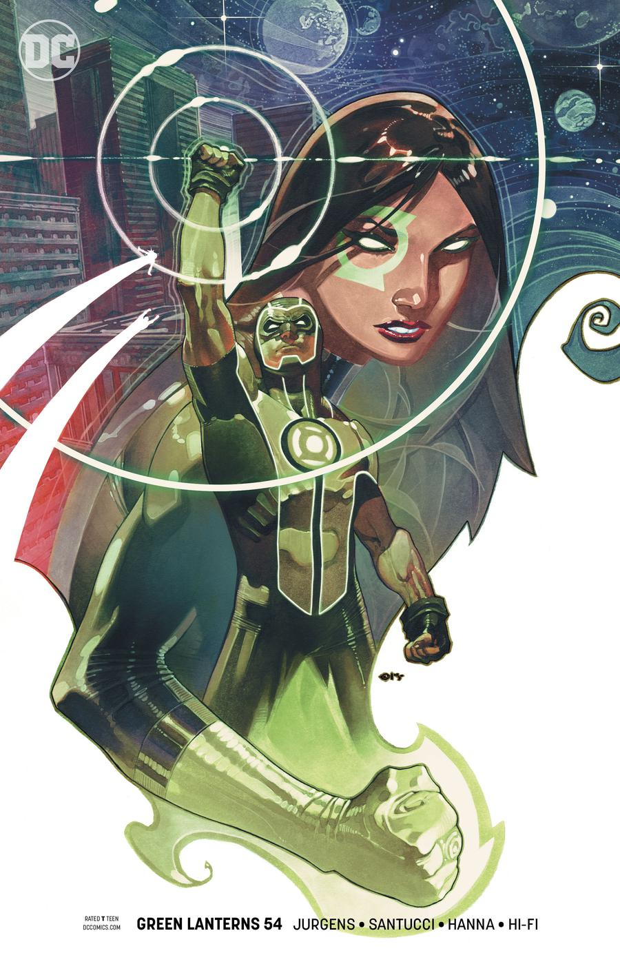 Green Lanterns #54 Cover B Variant Chris Stevens Cover