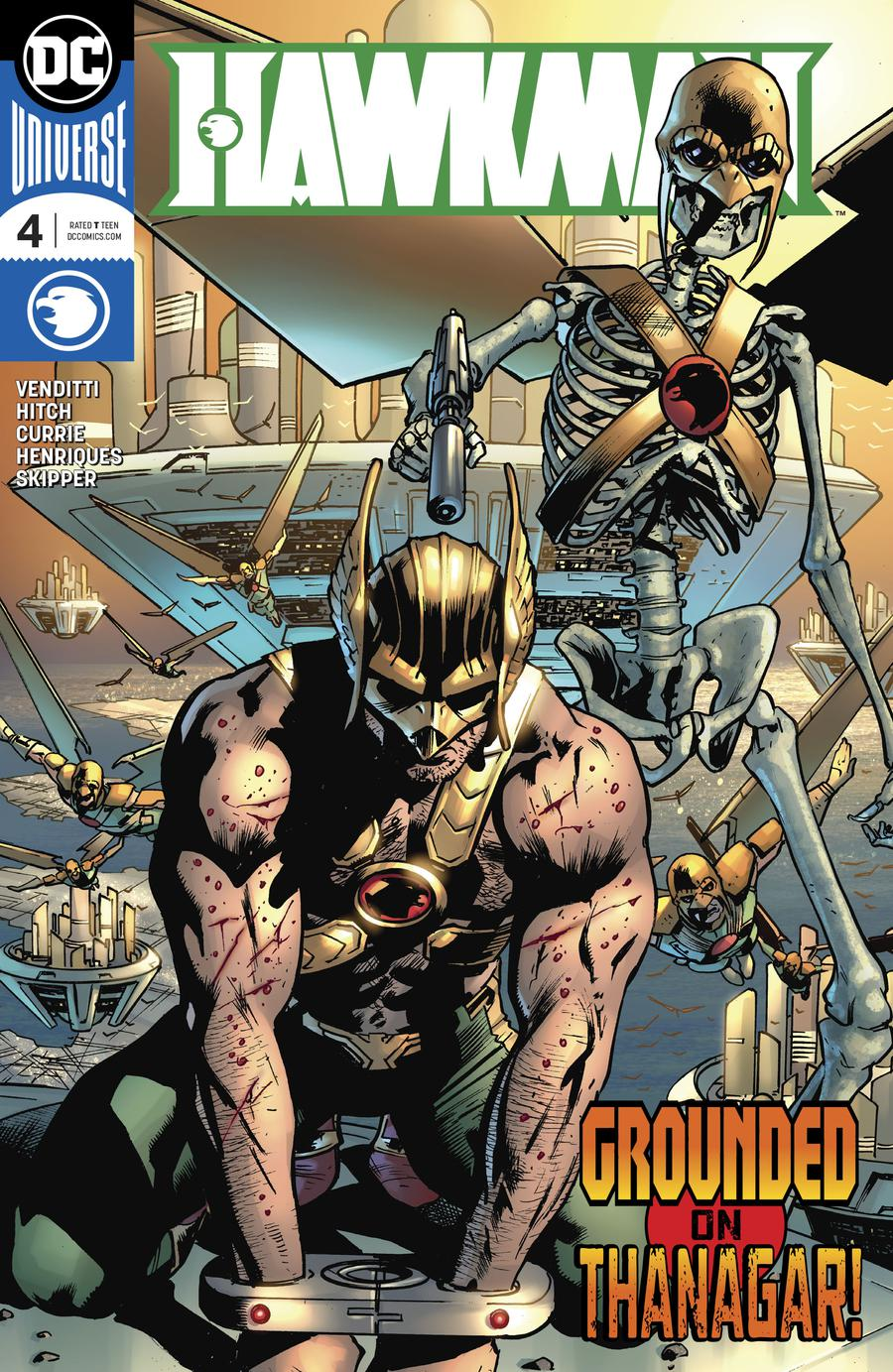 Hawkman Vol 5 #4 Cover A Regular Bryan Hitch Cover