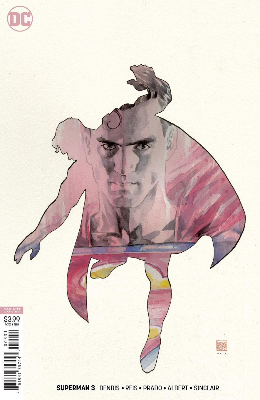 Superman Vol 6 #3 Cover C Variant David Mack Cover