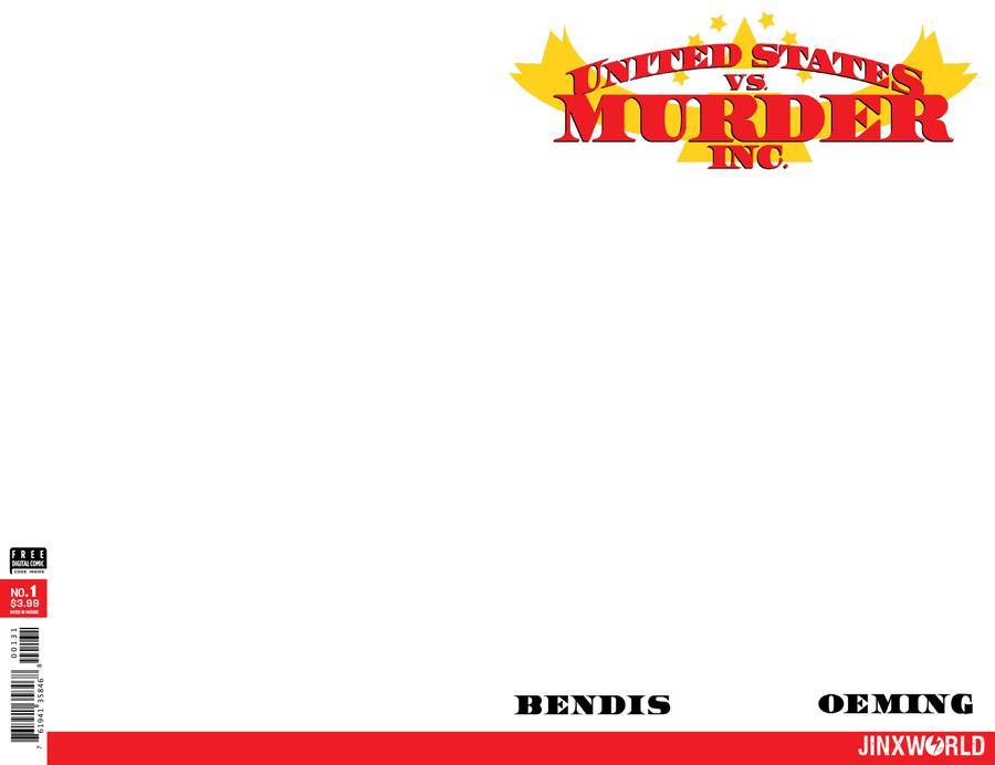 United States vs Murder Inc #1 Cover C Variant Blank Cover