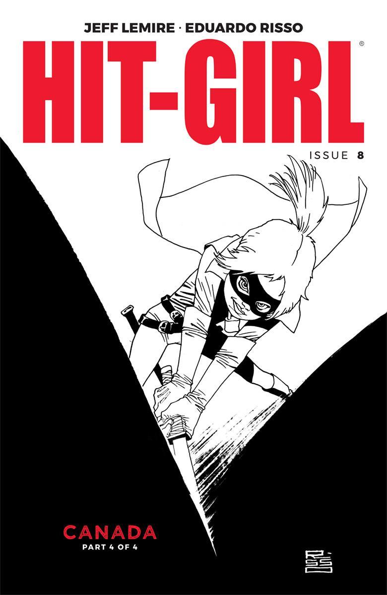 Hit-Girl Vol 2 #8 Cover B Variant Eduardo Risso Sketch Cover