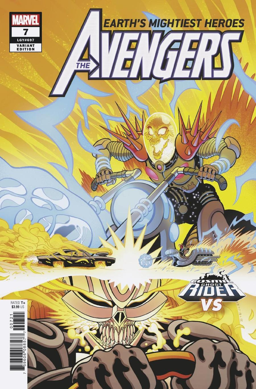 Avengers Vol 7 #7 Cover B Variant Tradd Moore Cosmic Ghost Rider VS Cover