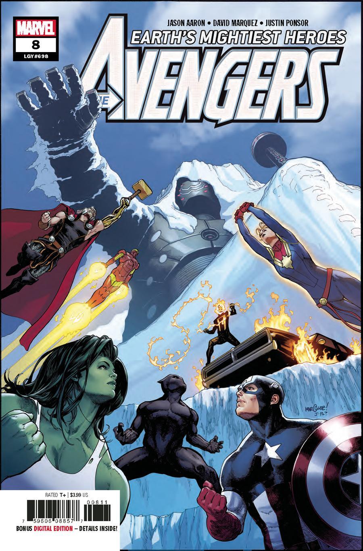 Avengers Vol 7 #8 Cover A 1st Ptg Regular David Marquez Cover