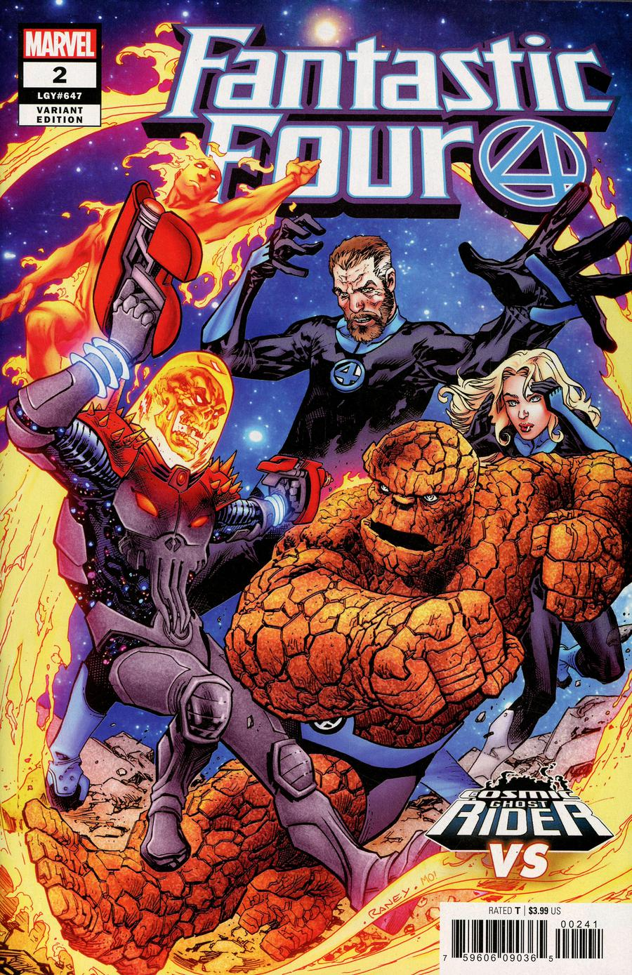 Fantastic Four Vol 6 #2 Cover B Variant Tom Raney Cosmic Ghost Rider VS Cover