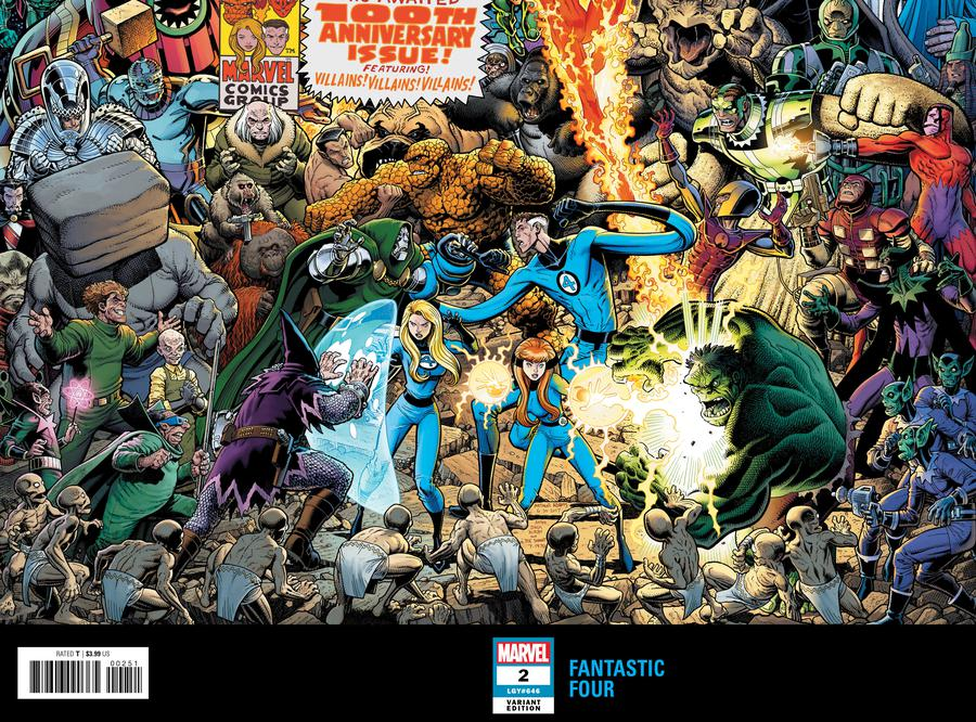 Fantastic Four Vol 6 #2 Cover C Variant Arthur Adams Connecting Wraparound Cover (2 Of 2)