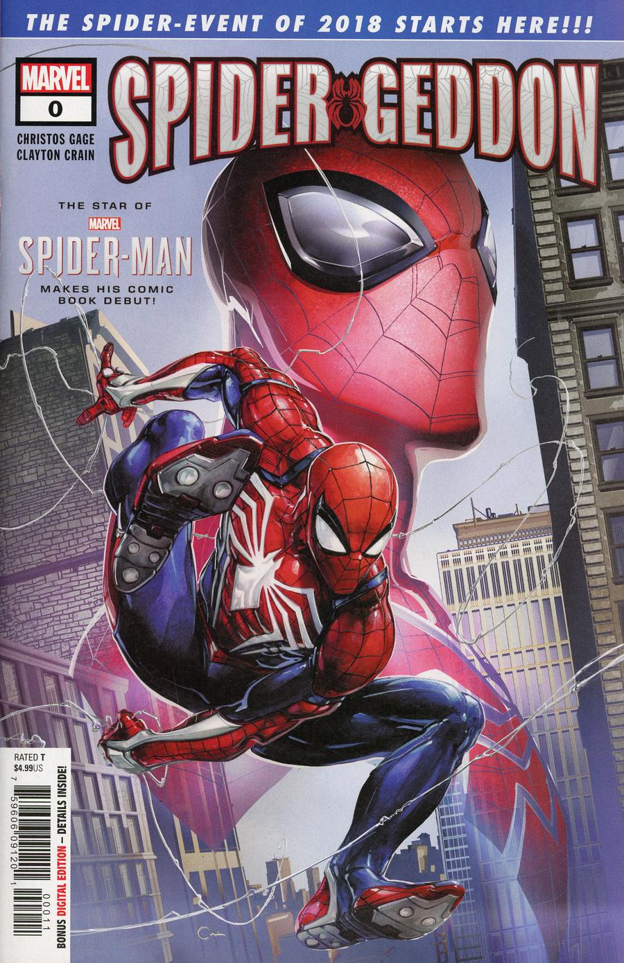 Spider-Geddon #0 Cover A 1st Ptg Regular Clayton Crain Cover