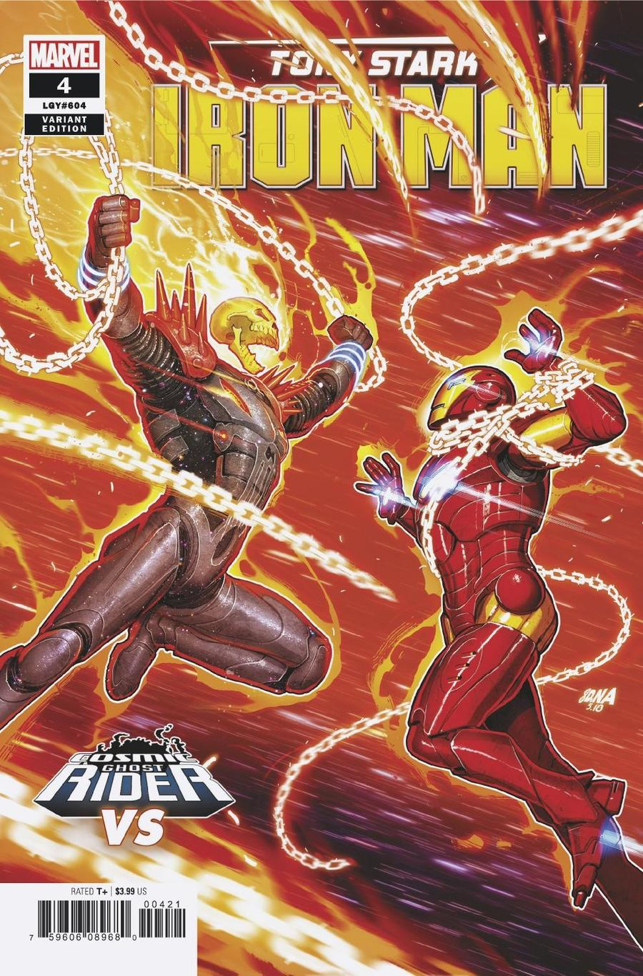 Tony Stark Iron Man #4 Cover B Variant David Nakayama Cosmic Ghost Rider VS Cover