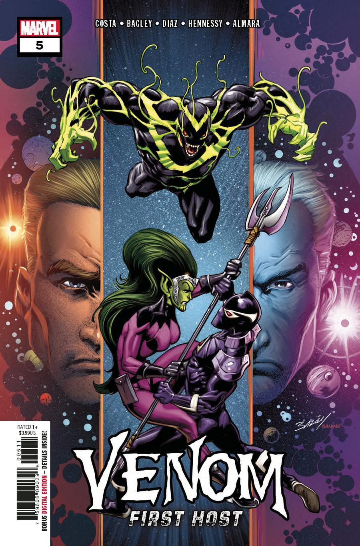 Venom First Host #5 Cover A 1st Ptg Regular Mark Bagley Cover