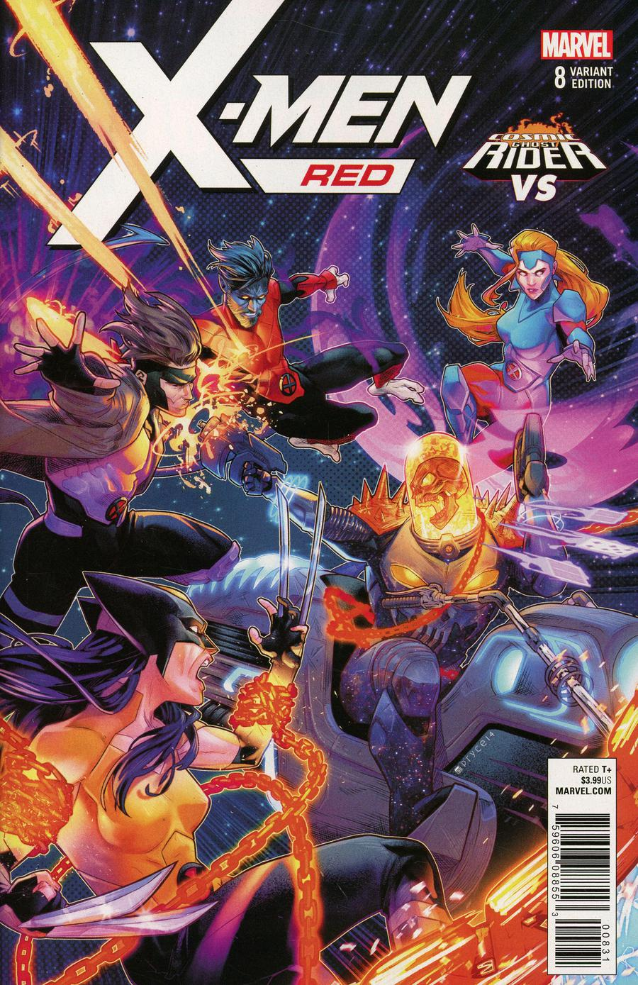 X-Men Red #8 Cover B Variant Jamal Campbell Cosmic Ghost Rider VS Cover
