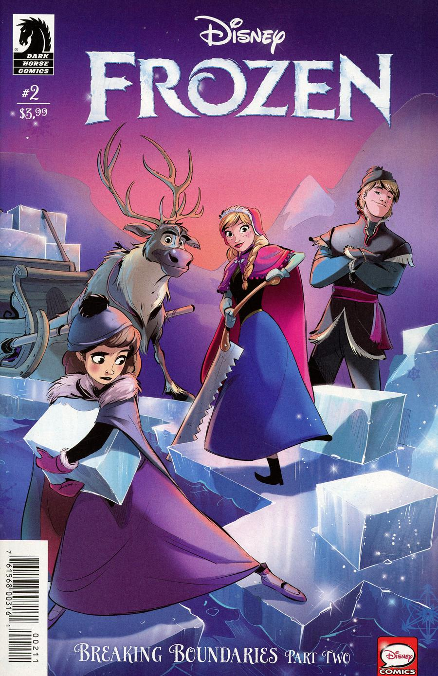 Disney Frozen Breaking Boundaries #2 Cover A Regular Kawaii Creative Studio Cover