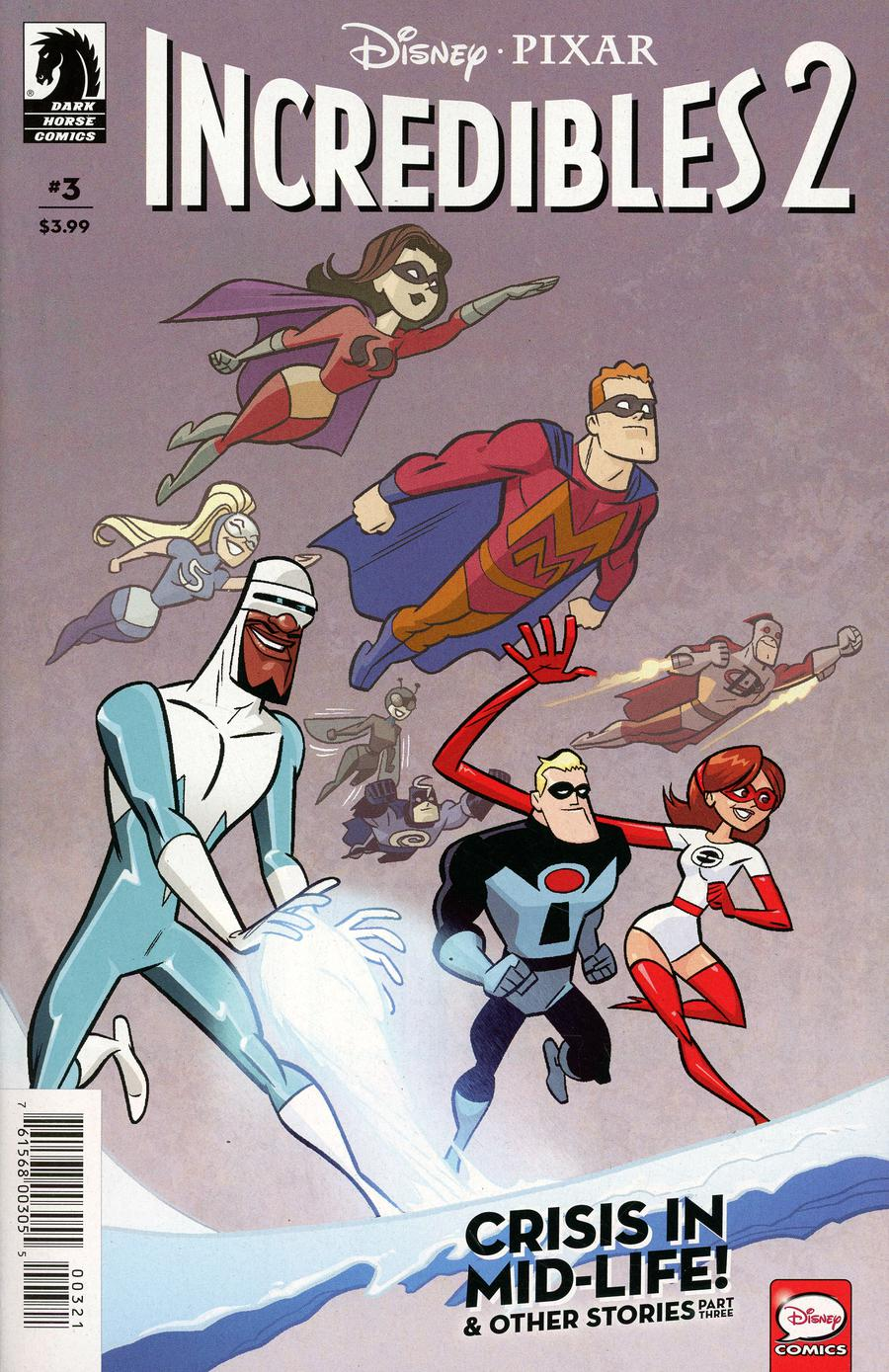 Disney Pixars Incredibles 2 Crisis In Mid-Life & Other Stories #3 Cover B Variant J Bone Cover