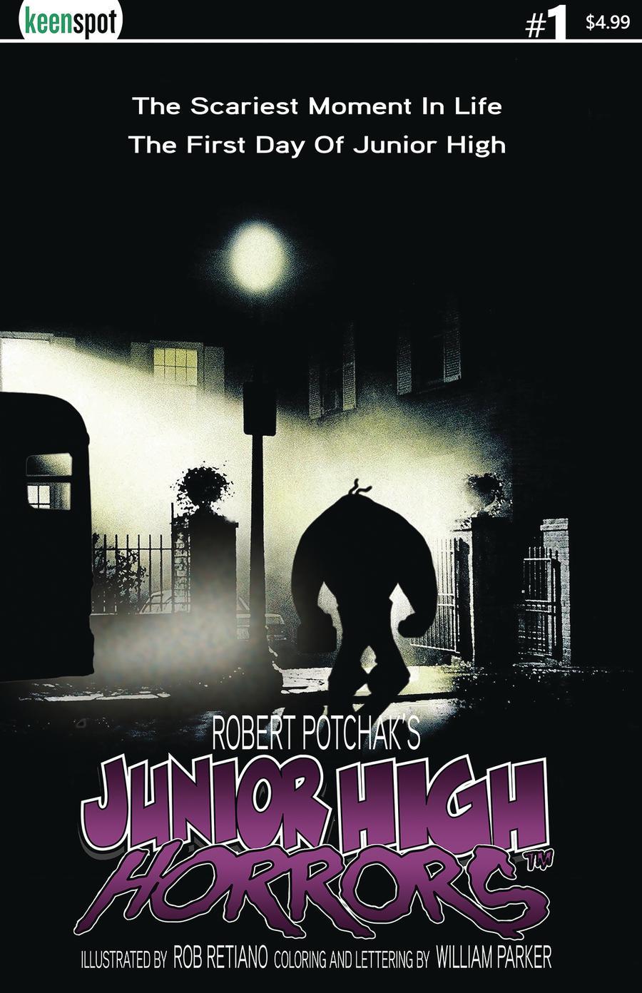 Junior High Horrors #1 Cover B Variant JV Exorcist Parody Cover