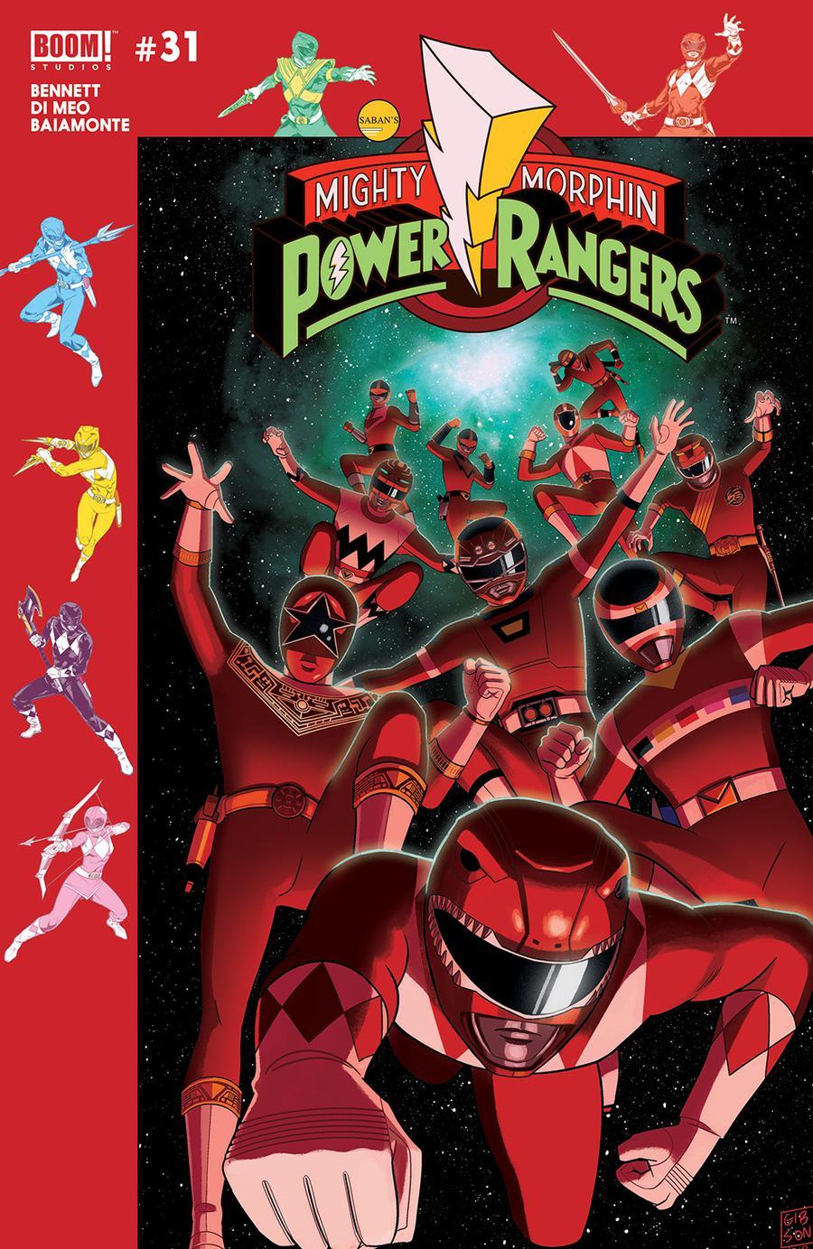 Mighty Morphin Power Rangers (BOOM Studios) #31 Cover B Variant Jordan Gibson Subscription Cover