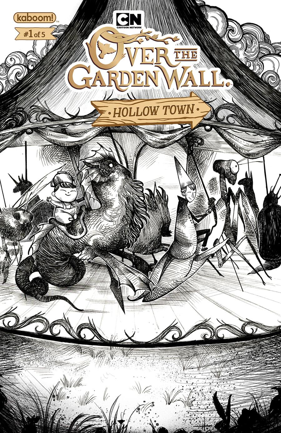 Over The Garden Wall Hollow Town #1 Cover B Variant Natalie Hall Subscription Cover