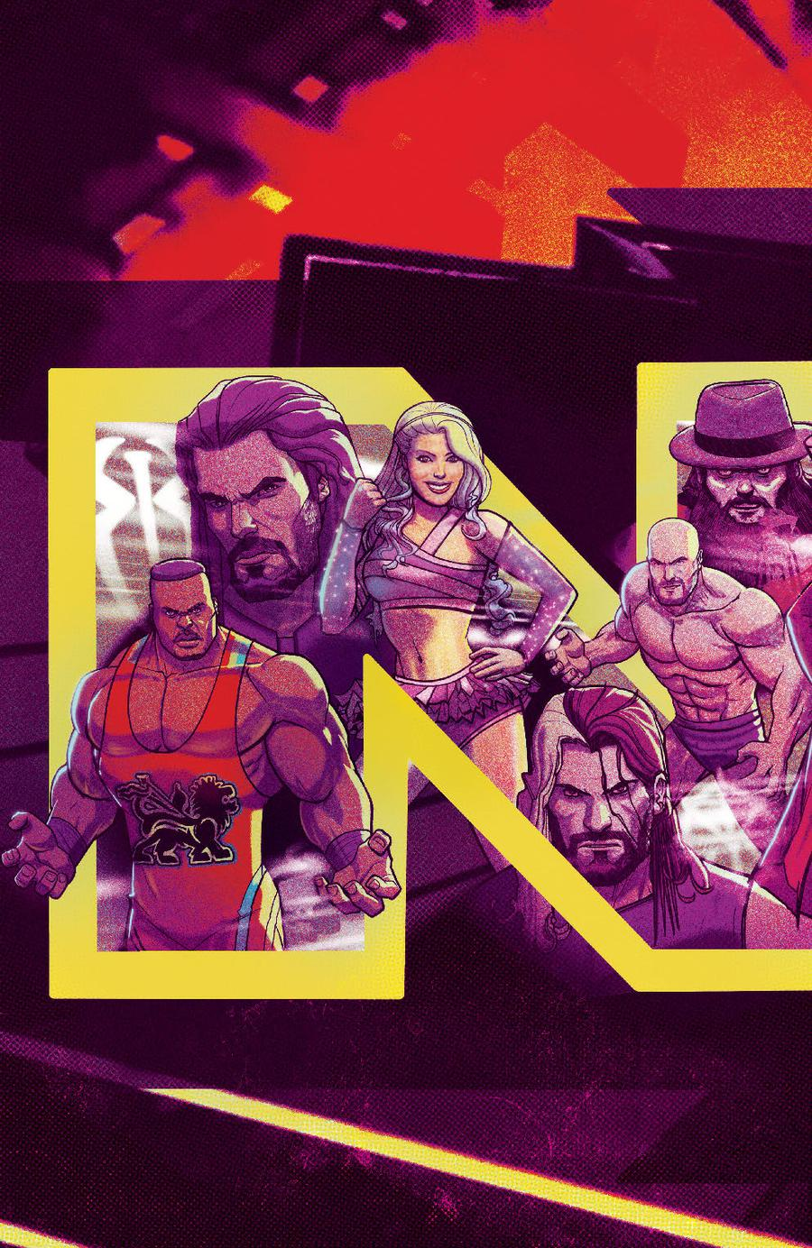 WWE NXT Takeover Blueprint #1 Cover B Variant Marco DAlfonso Connecting Subscription Cover