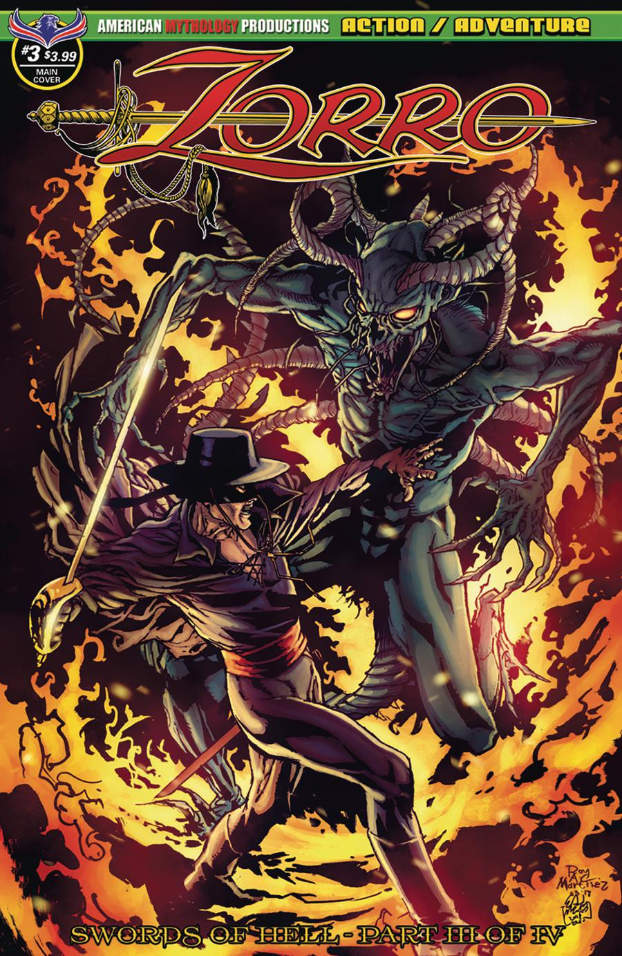 Zorro Swords Of Hell #3 Cover A Regular Roy Allan Martinez Cover