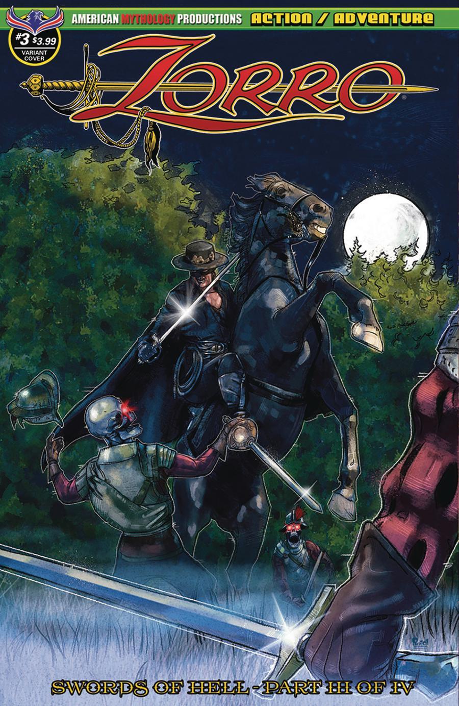 Zorro Swords Of Hell #3 Cover B Variant Jon Pinto Devils By Moonlight Cover