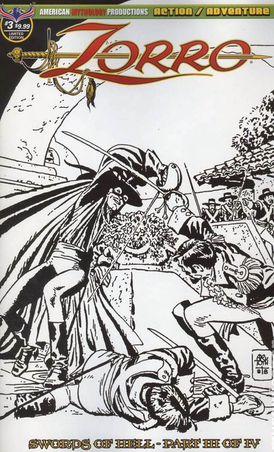 Zorro Swords Of Hell #3 Cover C Limited Edition Alex Toth Visions Of Zorro Cover