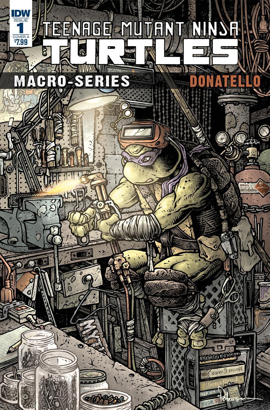 Teenage Mutant Ninja Turtles Macro-Series Donatello Cover A Regular David Petersen Cover